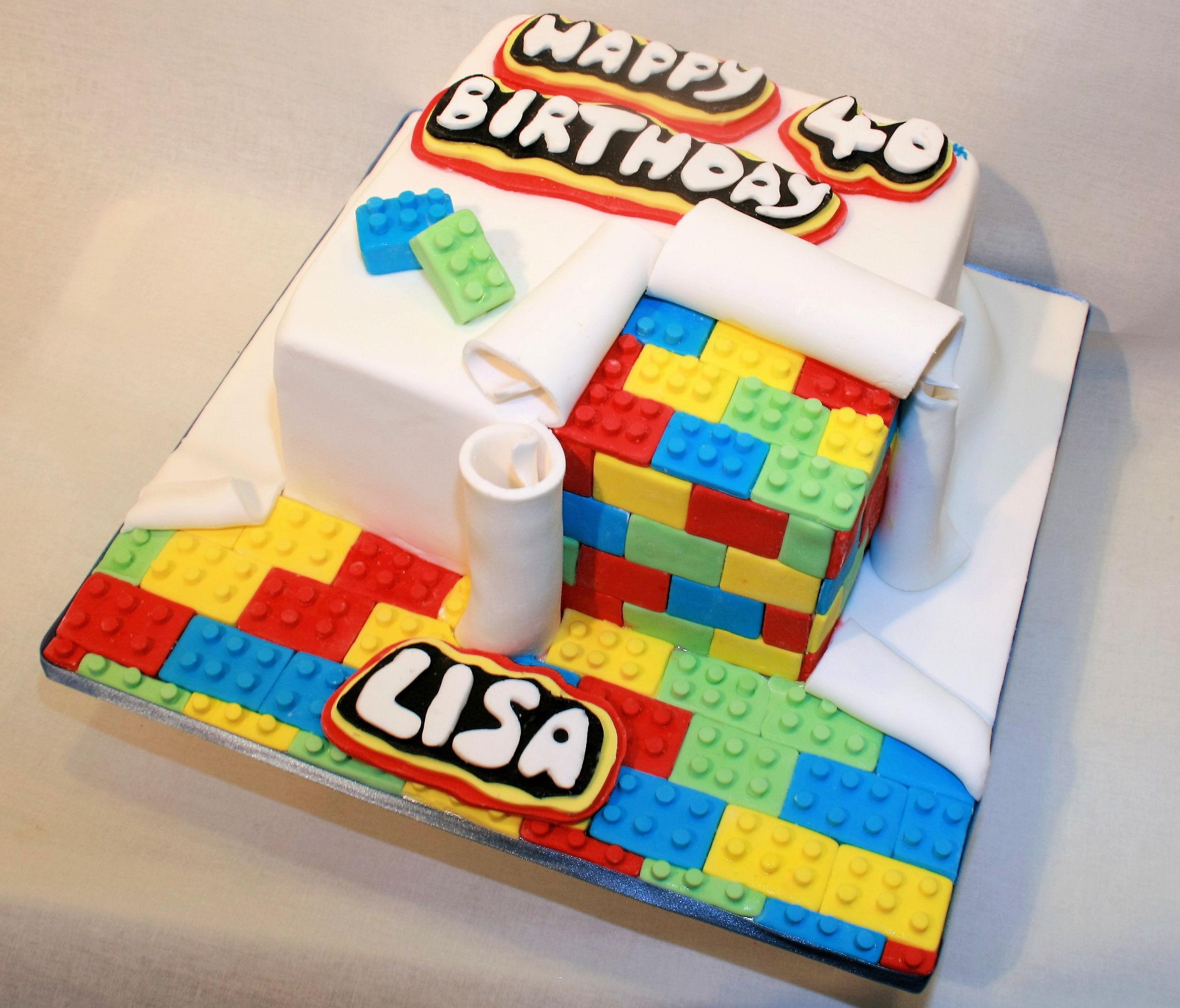 Lego 40th Cake