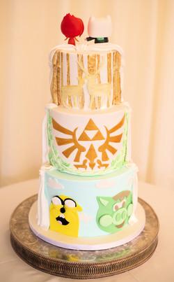 Bespoke personalised wedding cake