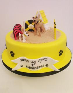 Dog Agility Cake