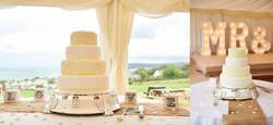 Yellow & White Daisy Wedding Cake