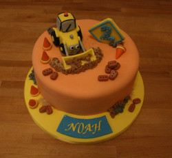 Digger JCB Cake