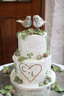 Woodland rustic theme Wedding Cake