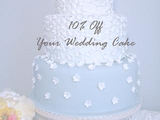 10% Off your Wedding Cake