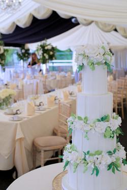 4 Tier Sugar Flower Wedding Cake