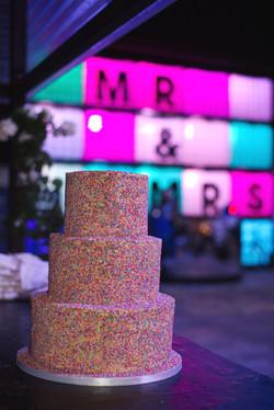 Funfetti sprinkles fun wedding cake
