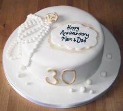 Pearl Anniversary Cake