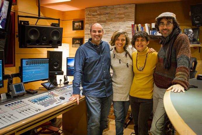 con Marisol Bock, Rosalía Mowgli y David Larriñaga