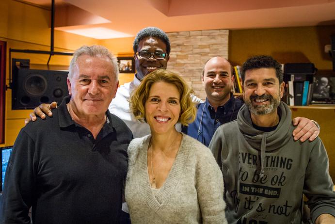 """Con Sole Giménez, Victor Manuel, Vicente Sabater e Iván """"Melón"""" Lewis"""