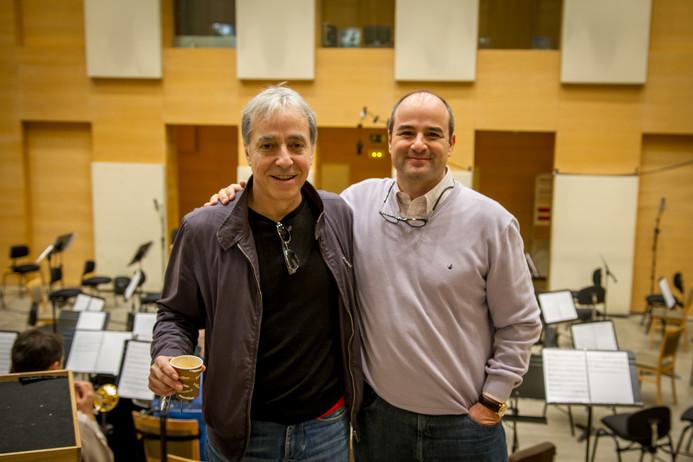 con el maestro Fernando Egozcue