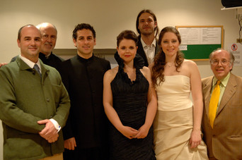 Con Jesús López Cobos, Juan Diego Flórez, Ainhoa Garmendia, Niko Donínguez, Alessandra Marianelli and José Luis Temes