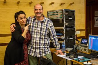 """Con Ruth Iniesta en la grabación de """"Becqueriana"""""""