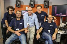 """con Francisco Amor, Niko Domínguez, Fernando Gutiérrez y Jorge García """"Malax"""""""