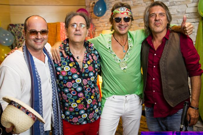 Con Joan Pérez, Tony Carmona y Mario Carrión