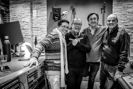 Con Pepe Rivero, José E. Cruz y Javier Colina
