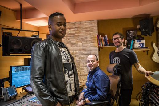 Con Yadam González y Pablo Serrano