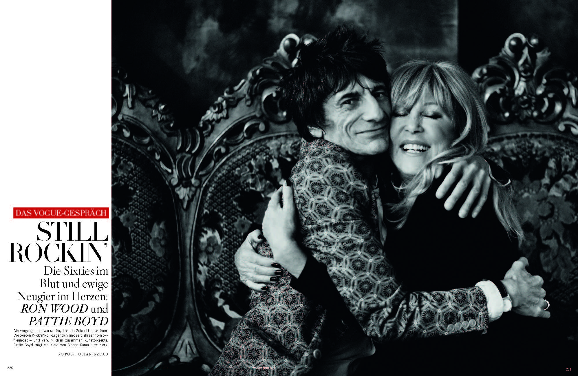 Ronnie Wood + Pattie Boyd