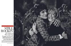 Ronnie Wood + Pattie Boyd