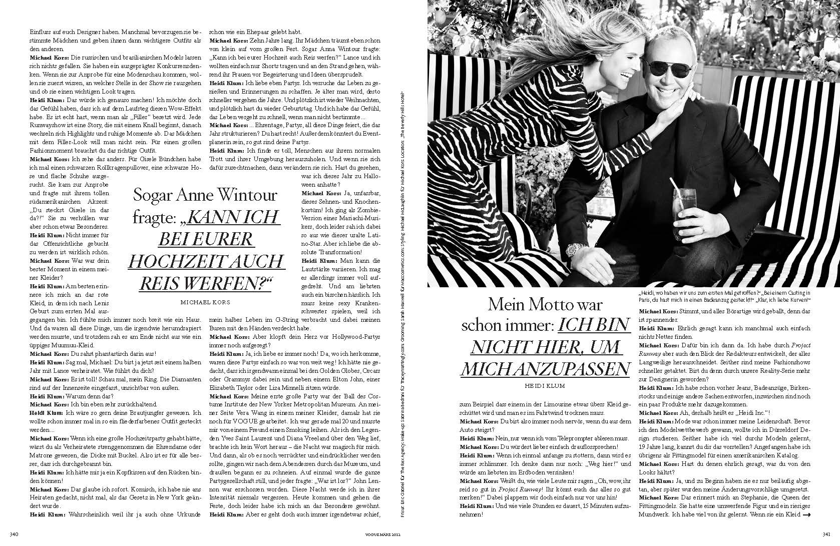 Heidi Klum + Michael Kors