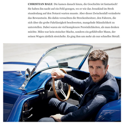 Cover story Matt Damon + Christian Bale GQ
