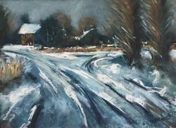 Dorset village in snow