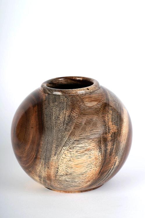 אגרטל עץ עגול ללא צוואר