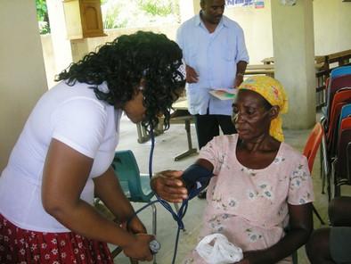 La'Wana taking blood pressure