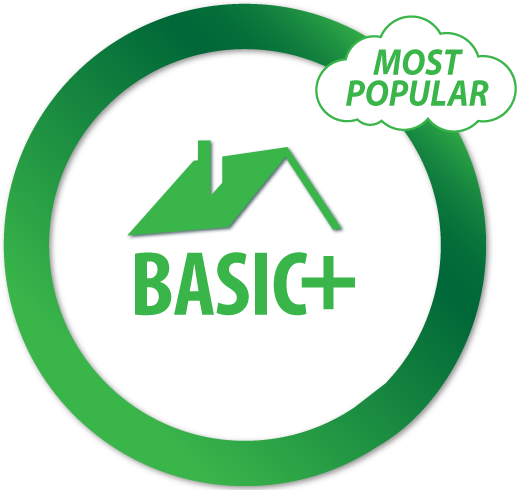 Basic+ Up to 2,000 Sq Ft