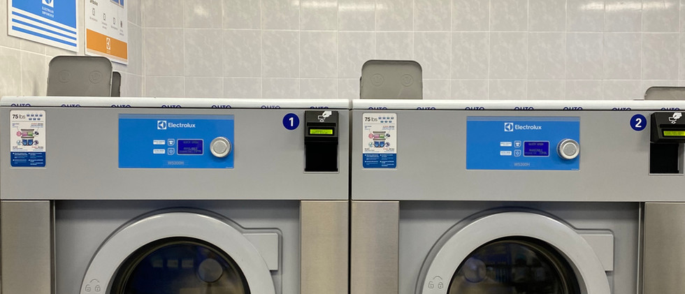 Our 75 lb washer is perfect for cleaning your oversized blankets and comforters