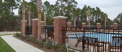 Brick Columns with Fencing