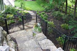 residential aluminum fence