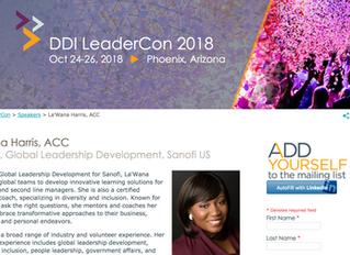 DDI LeaderCon  Oct 24-26, 2018