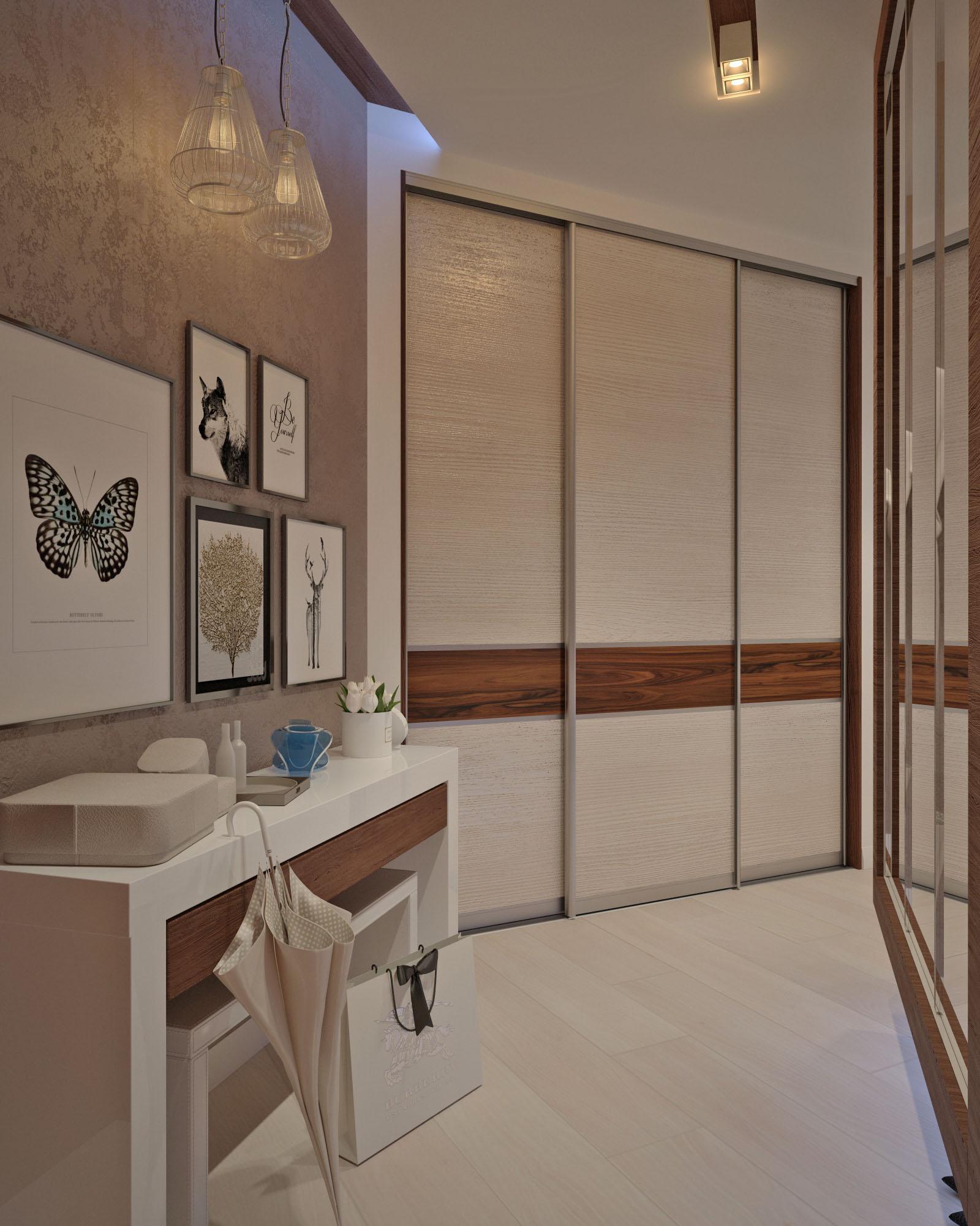 Дизайн квартиры Щорса прихожая 1