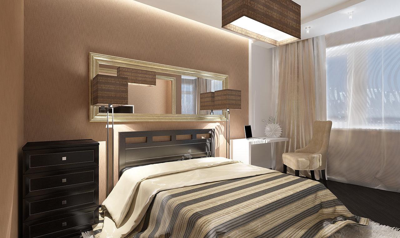 Дизайн-проект интерьера 3-х комнатной квартиры в Екатеринбурге. Функциональный минимализм, Вечная Классика и смелый Авангард под одной крышей. Ниша в интерьере спальни, теплые цвета, рама, угловая комната дизайн, стильная спальня, уютный интерьер