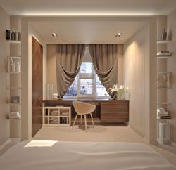 Дизайн квартиры Щорса спальня 1