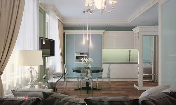 Дизайн интерьера квартиры в стиле современная классика, дизайн гостиной, дизайн кухни, дизайн студии, дизайн санузла, дизайн интерьера екатеринбург, ЖК Мечта