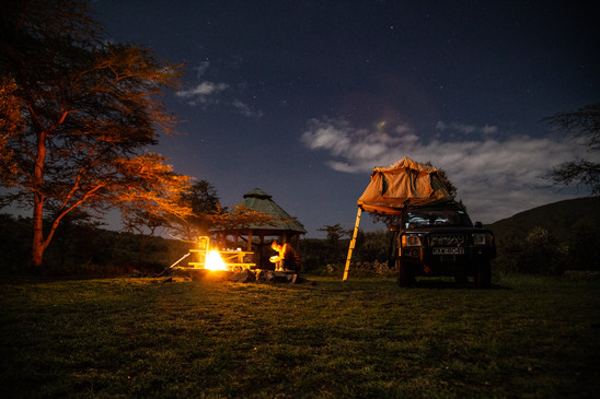 A night on safari in the Great Rift Valley.