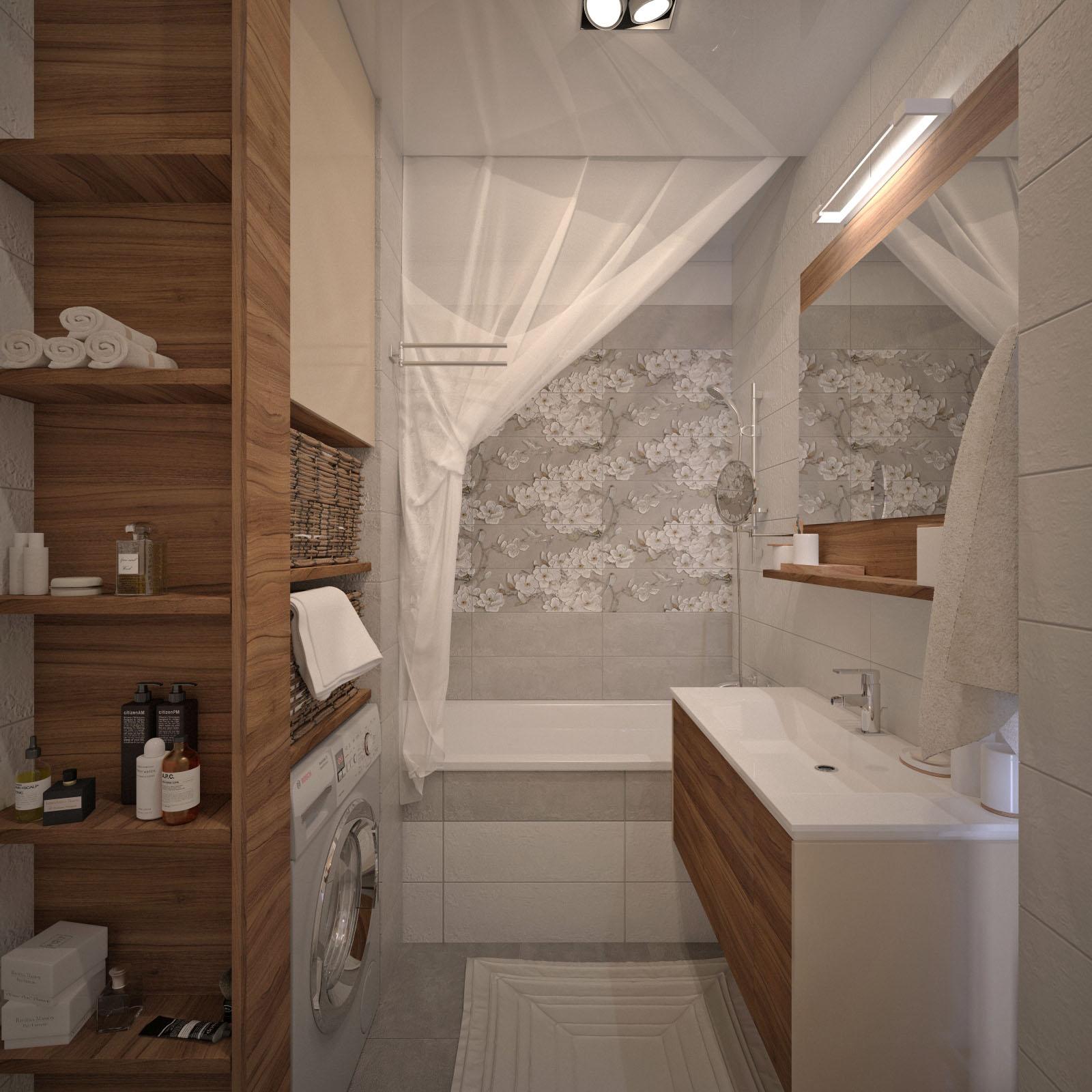 Дизайн квартиры Щорса санузел 1