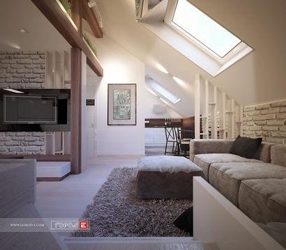 Дизайн интерьера квартиры в стиле лофт, минимализм, дизайн мансарды, дизайн кухни, дизайн гостиной, дизайн проект, дизайн прихожей, дизайн студия, дизайн ЖК Западный, Очеретина ул., дизайн интерьера екатеринбург