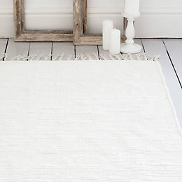 airá ivory handwoven cotton rug