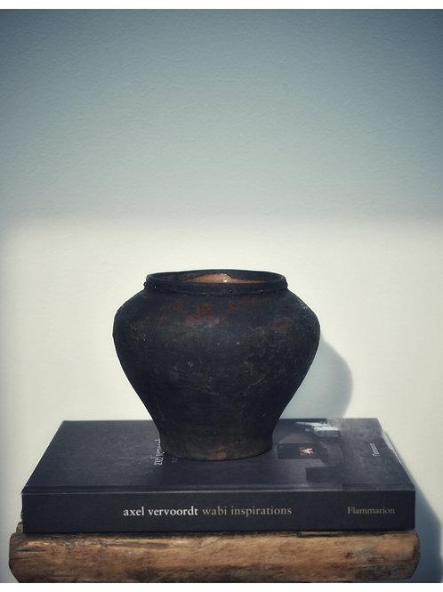 antique wabi clay pot