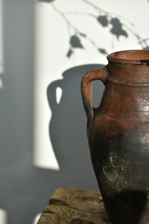antique olive pot
