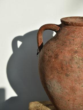 antique two-handle olive pot