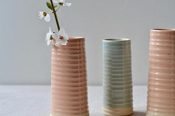 handmade textural ceramic bud vases