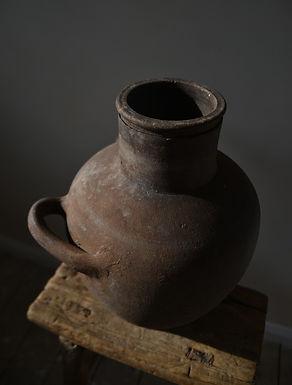 ~Asya~ antique terracotta twin-handled urn