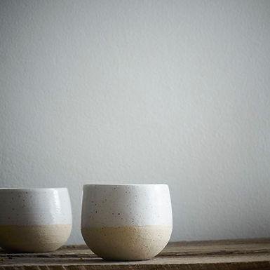 handmade ceramic cups   Cara Guthrie