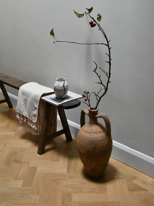 antique two-handle terracotta pot | Mudanya