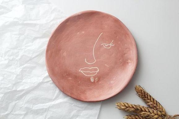 handmade terracotta jewellery dish