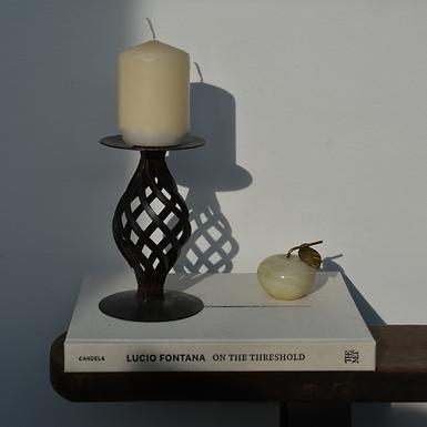 vintage spiral candle holder