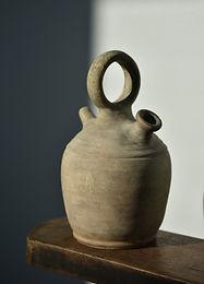 antique Spanish clay vessel