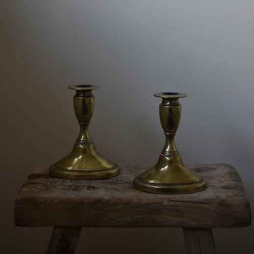 vintage brass candlestick holders